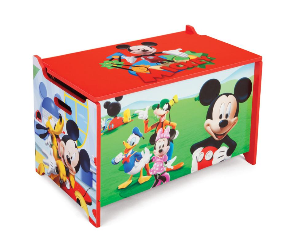coffre jouets s curis mickey mouse disney. Black Bedroom Furniture Sets. Home Design Ideas