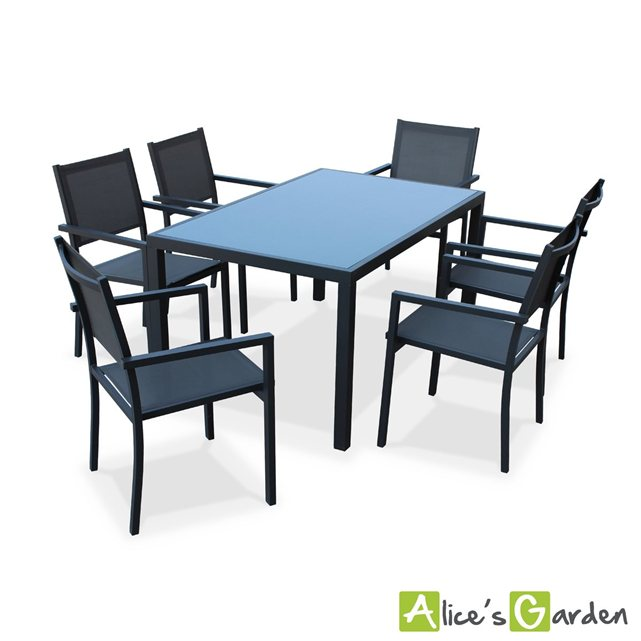 alice c s garden salon de jardin aluminium table 150cm. Black Bedroom Furniture Sets. Home Design Ideas