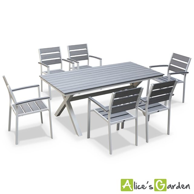 alice c s garden salon de jardin table 180cm 6 places. Black Bedroom Furniture Sets. Home Design Ideas