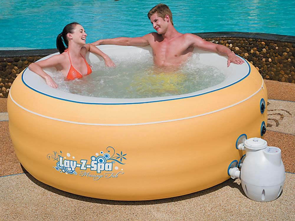 Bestway spa gonflable lay z spa 4 6 places orange - Spa rectangulaire gonflable ...