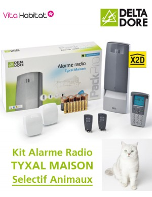 delta pack alarme radio dore tyxal maison avec animau. Black Bedroom Furniture Sets. Home Design Ideas