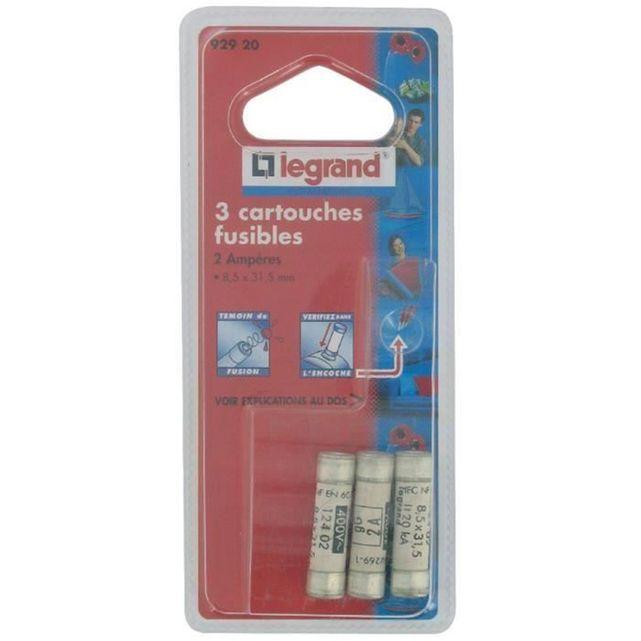 Legrand c cartouche fusible pour porte fusible avec tmoin 10a 2300w catgorie fusible lectrique - Porte fusible legrand ...
