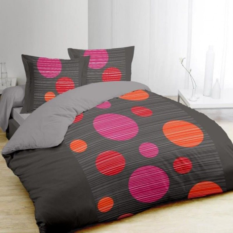 vision parure de couette bulles 240x260cm. Black Bedroom Furniture Sets. Home Design Ideas