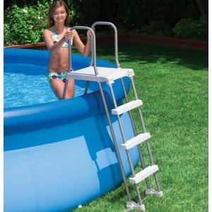 intex echelle de piscine s curit 107 cm grise. Black Bedroom Furniture Sets. Home Design Ideas