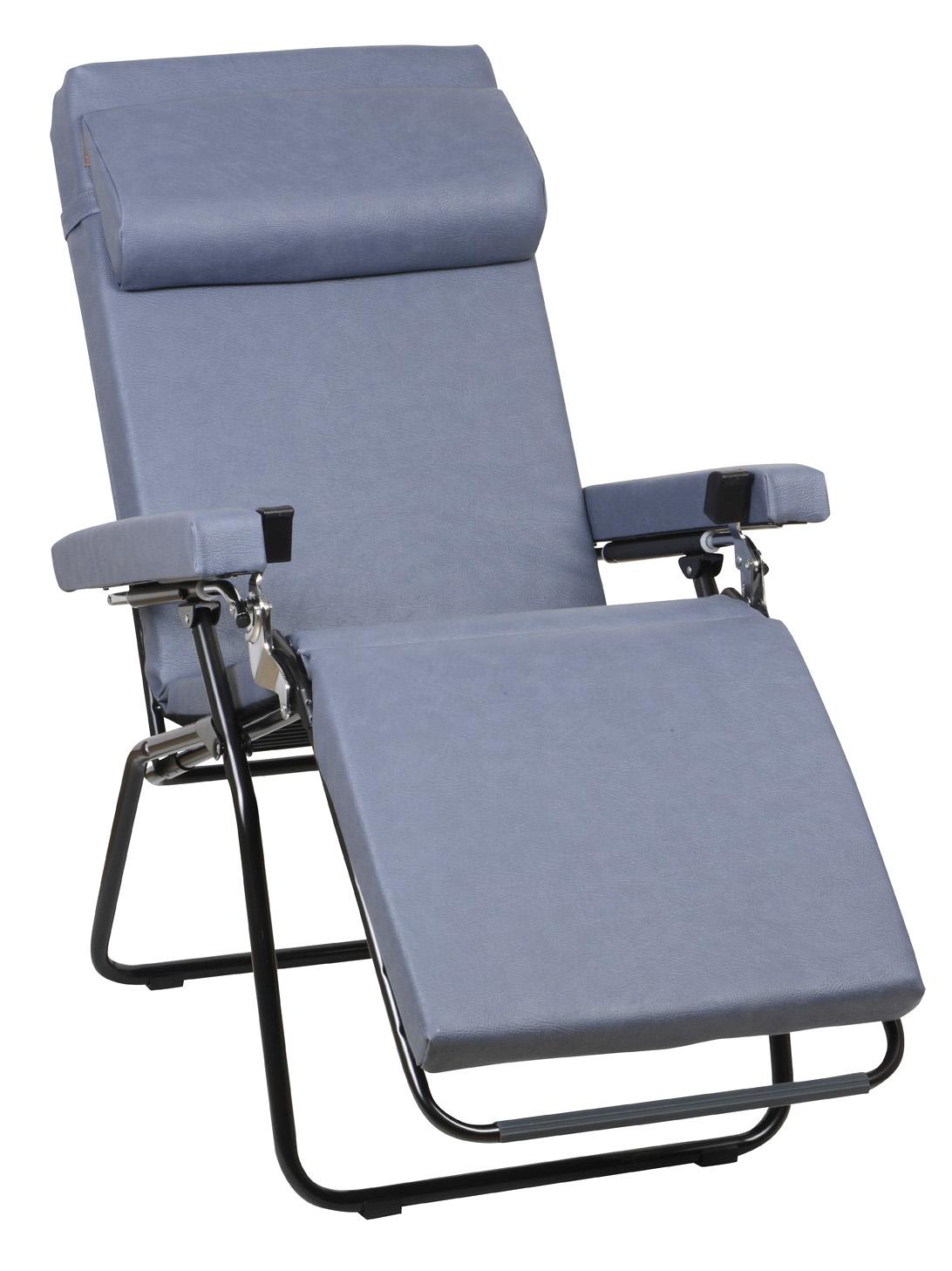Lafuma fauteuil relax rpl 6 cm synth tique m2 bleu temp - Bain de soleil lafuma ...