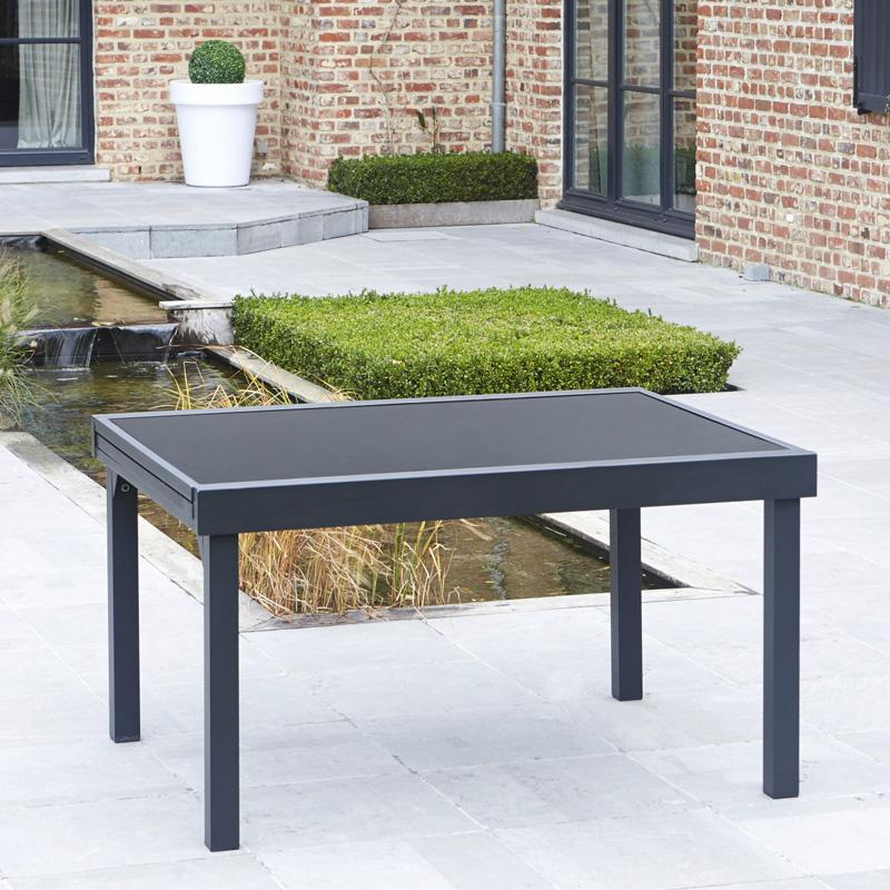 Wilsa censemble modulo 8 12 places noir for Table noir rallonge
