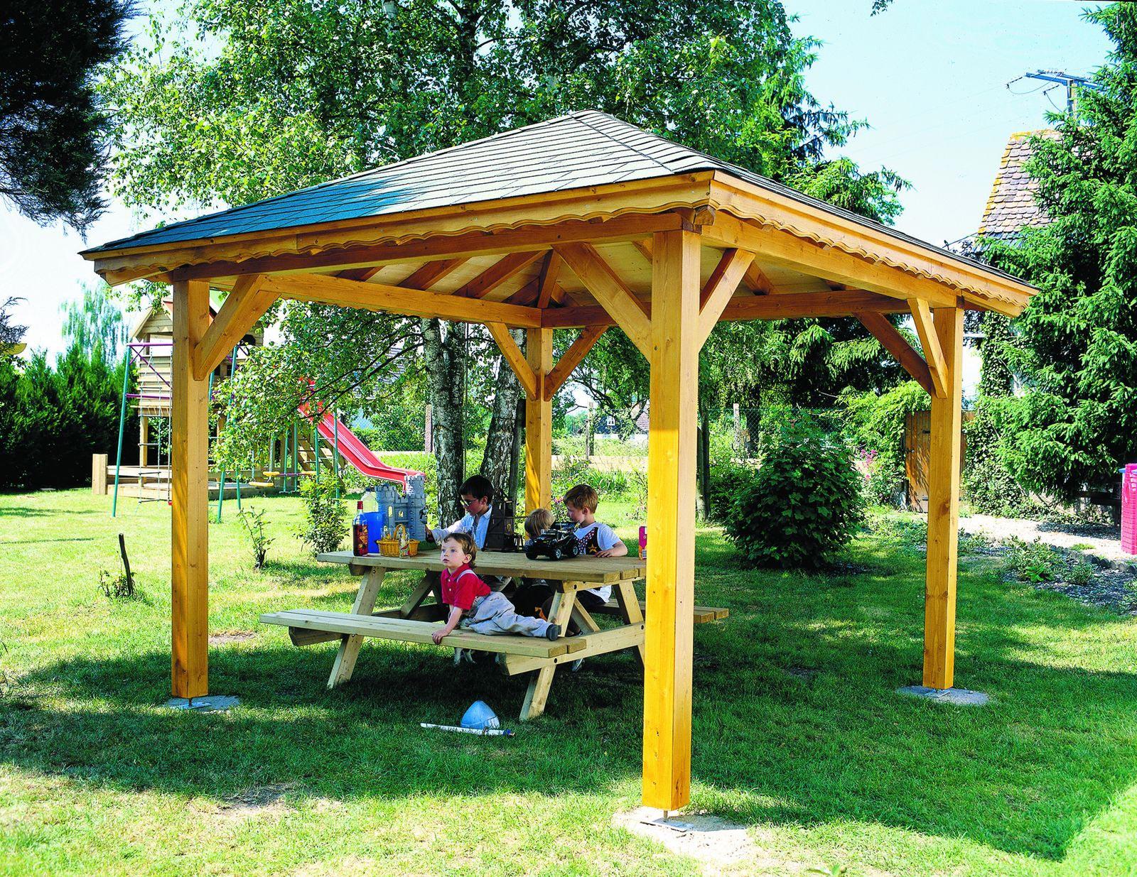 fabriquer une tonnelle de jardin en bois. Black Bedroom Furniture Sets. Home Design Ideas