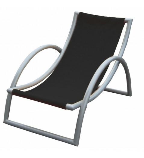 julie fauteuil de jardin multipositions en alu et composite horizon l 585 x p 44 x h 46 112 cm