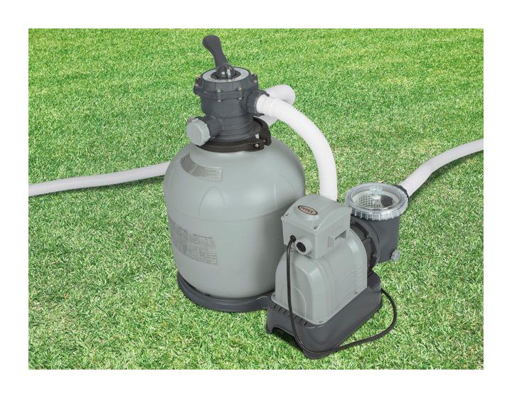 Intex groupe de filtration pump 10m h jusqu 65m3 for Verre de filtration intex