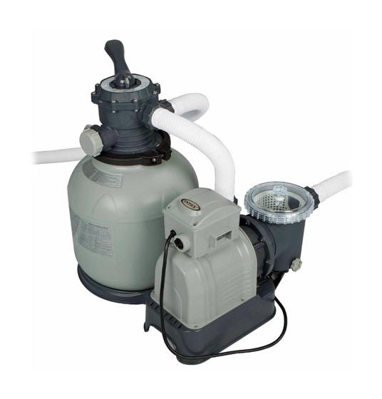 Intex groupe de filtration pump 10m h jusqu 65m3 for Groupe de filtration pour piscine
