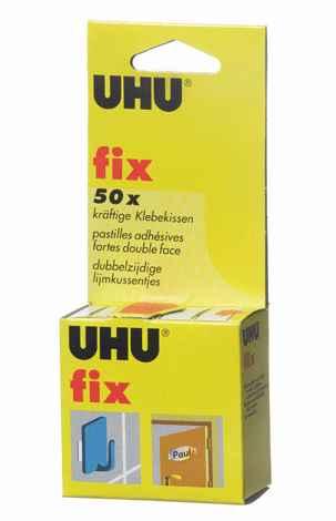 uhu cfix 50 pastilles adhsives double face catgorie colle. Black Bedroom Furniture Sets. Home Design Ideas