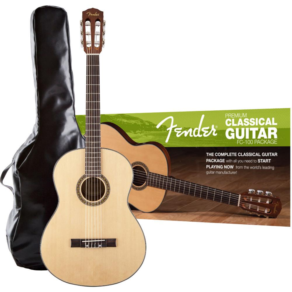 fender fc 100 classical pack pack de d marrage guitare cl. Black Bedroom Furniture Sets. Home Design Ideas