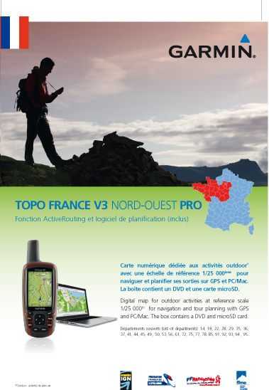 garmin topo france v3 nord ouest pro. Black Bedroom Furniture Sets. Home Design Ideas