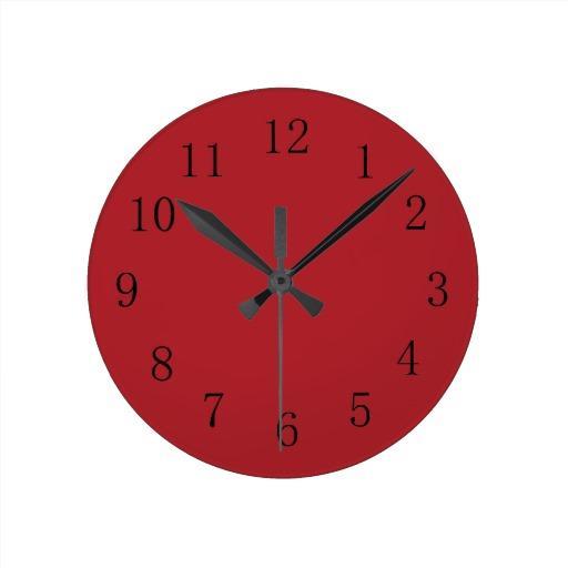 Horloge rouge cuisine indogatecom horloge murale pour for Horloge murale cuisine rouge