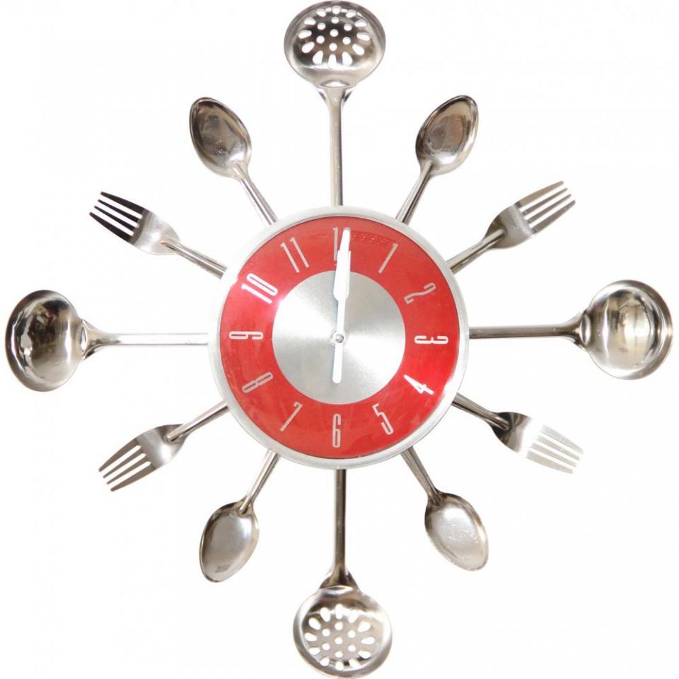 horloge murale cuisine rouge divers besoins de cuisine. Black Bedroom Furniture Sets. Home Design Ideas