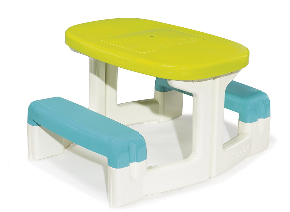 Smoby table enfant pic nic for Table jeu exterieur