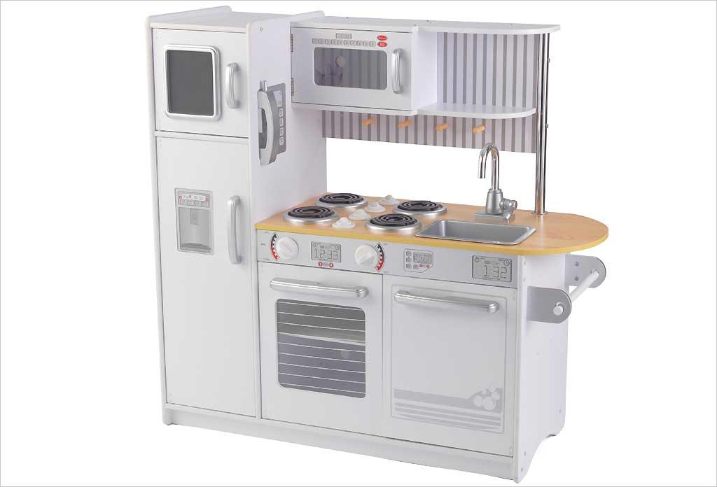 Kidkraft cuisine pour enfant uptown bois mdf et plastique for Cuisine enfant bois occasion