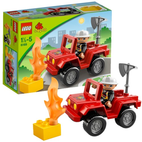 lego c 6169 duplo ville le chef des pompiers. Black Bedroom Furniture Sets. Home Design Ideas
