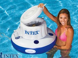 Intex glaciere gonflable flottante grande capacit for Accessoires piscine intex