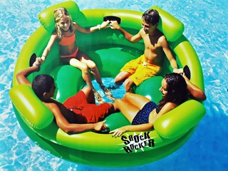 Swimline jeu basket gonflable giant shoot ball 122cm avec for Piscine a balle jouet club