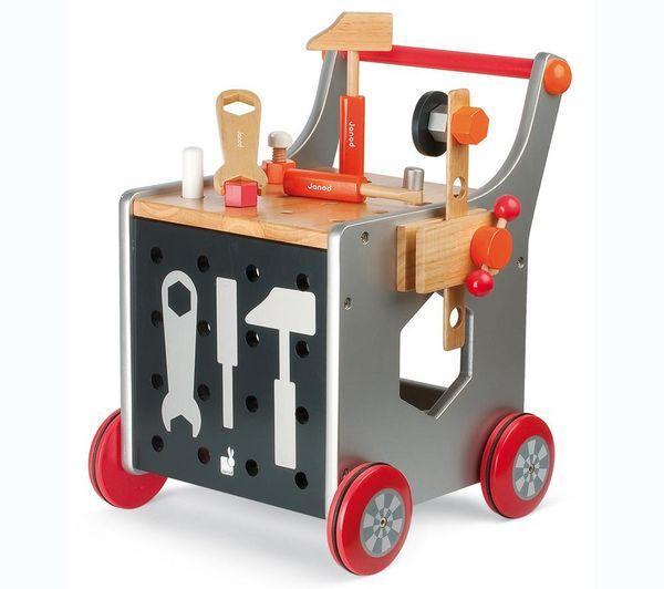 Janod j06505 jouet en bois mon premier chariot bri for Cuisine janod macaron