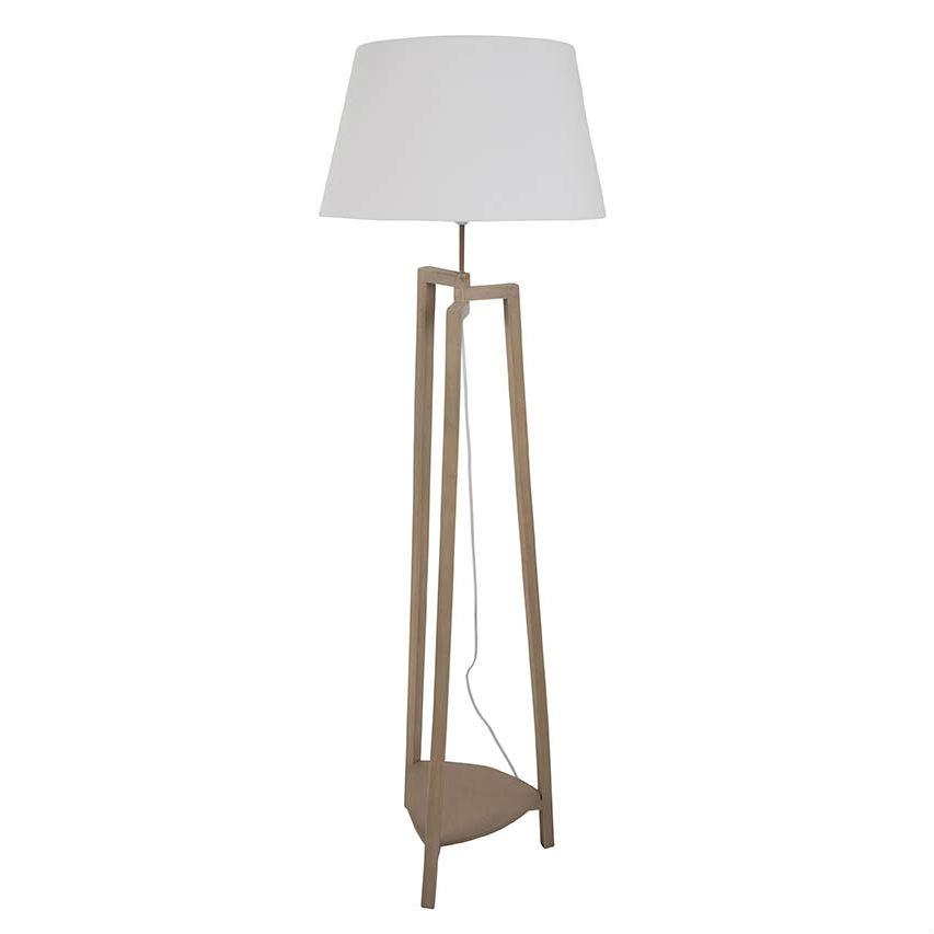 Lampadaire Bois Conforama : cdam lampadaire bois coton cru h157cm lampada dam lampadaire bois