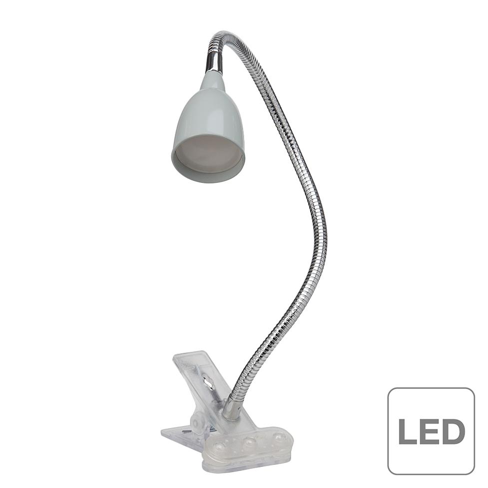 brilliant lampe pince led anthony 3w gris. Black Bedroom Furniture Sets. Home Design Ideas