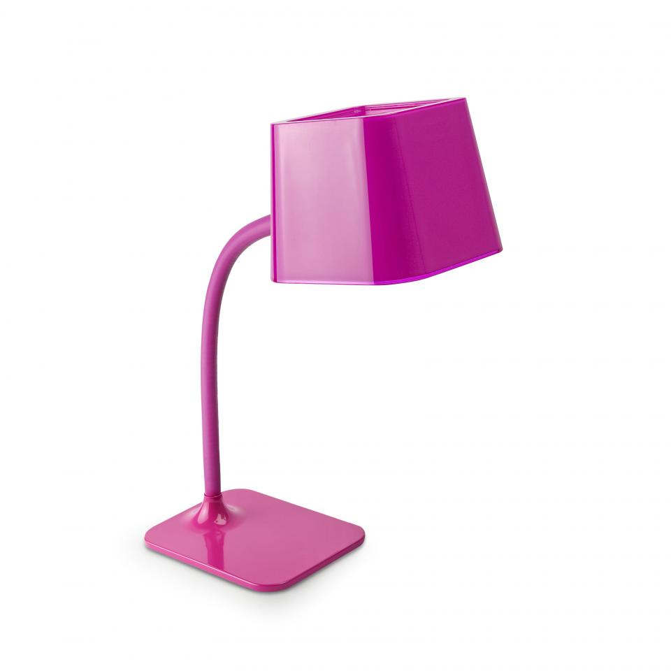 Faro lampe de chevet fuchsia e27 flexi 29922 for Table pour lampe de salon