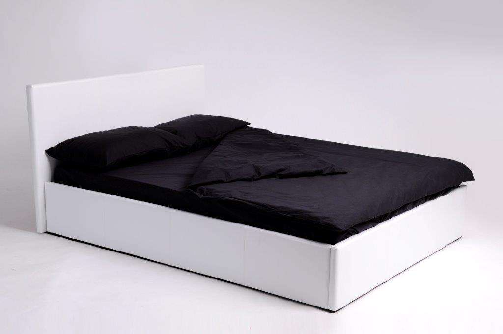 Swithome ctte de lit domia blanc 160 - Lit 160x200 avec sommier ...