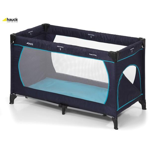 hauck lit parapluie dream n play plus navy aqua catgorie lits pliants pour bbs. Black Bedroom Furniture Sets. Home Design Ideas