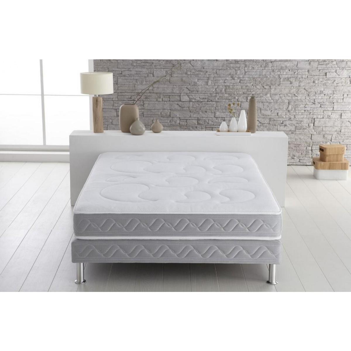 treca censemble marguerite 480 sommier pieds 160x200. Black Bedroom Furniture Sets. Home Design Ideas