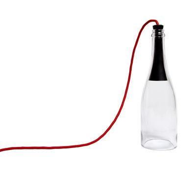 l ampe bouteie torche ed ateier d exercices rouge transparent en verre catgorie lampe de salon. Black Bedroom Furniture Sets. Home Design Ideas