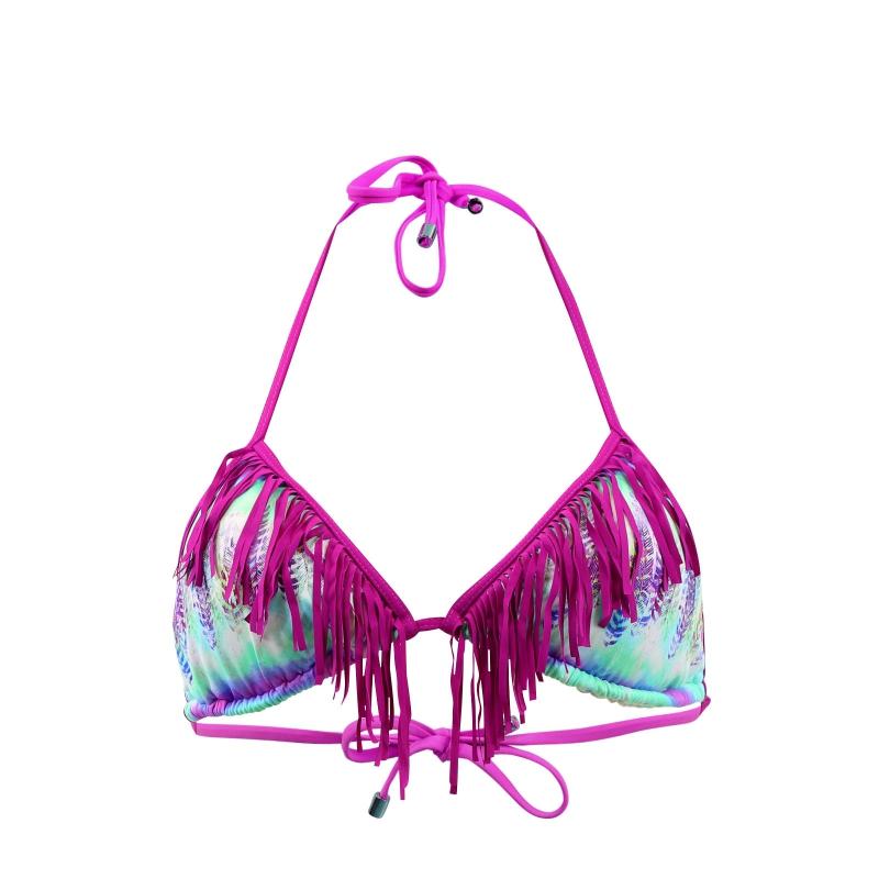 kiwi haut de maillot de bain triangle franges totem be catgorie maillots de bain femmes. Black Bedroom Furniture Sets. Home Design Ideas