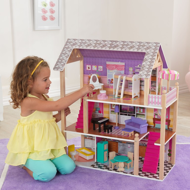 kidkraft ma maison de poup e majestic mansion. Black Bedroom Furniture Sets. Home Design Ideas