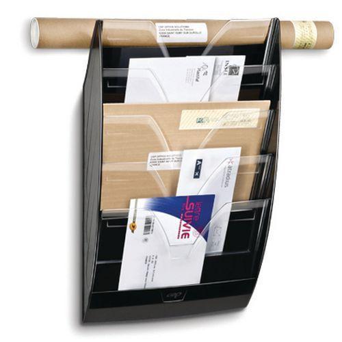 cep trieur mural plastique 5 compartiments 24 x 32 cm. Black Bedroom Furniture Sets. Home Design Ideas