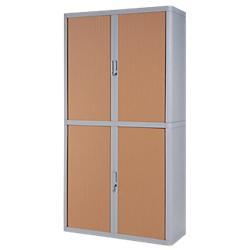armoire rideaux easy office 2m corps gris rideaux htre. Black Bedroom Furniture Sets. Home Design Ideas