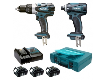 makita cpack 2 machines 18 v lxt perceuse visseuse bdf4. Black Bedroom Furniture Sets. Home Design Ideas