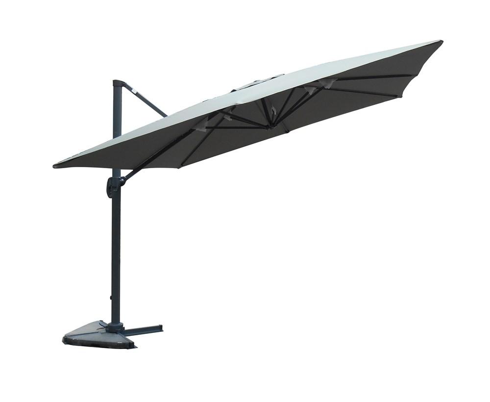 swithome parasol en toile d port carr taupe avec volant. Black Bedroom Furniture Sets. Home Design Ideas