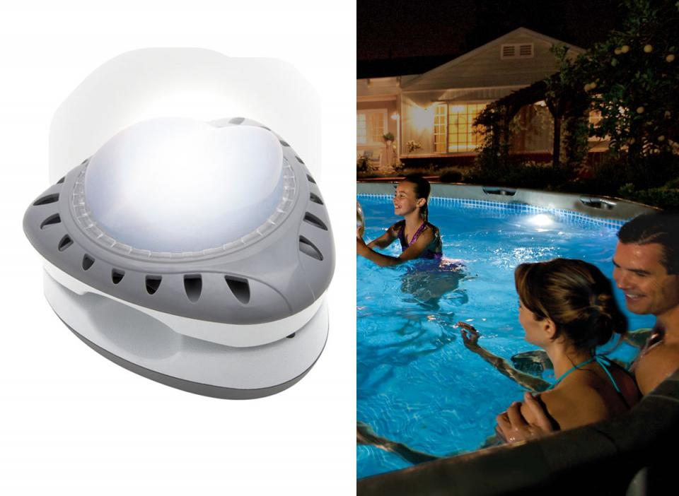 Intex cprojecteur led magnetique catgorie entretien de piscine for Entretien de piscine