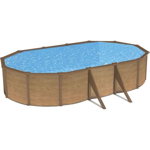 Abak piscine m tal canyon ovale l 755 x l 390 x h for Abak piscine