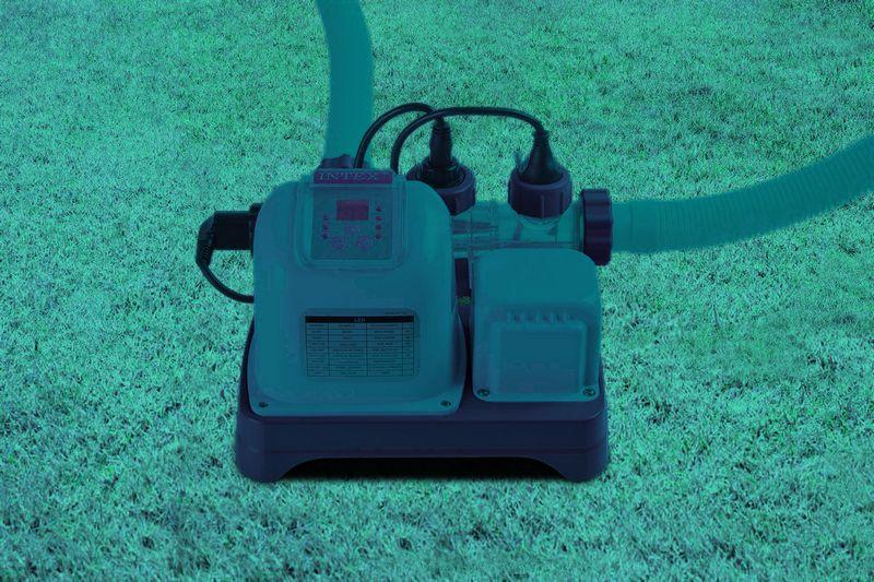 Intex cecostrilisateur au sel 20m for Rechauffeur piscine intex 20m3