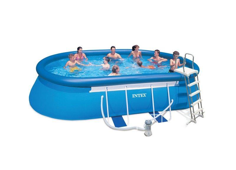 Intex piscine autoporte ellipse x x m for Piscine intex gonflable