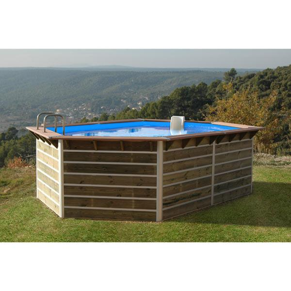 waterclip piscine bois hexagonale allongee sabtang x