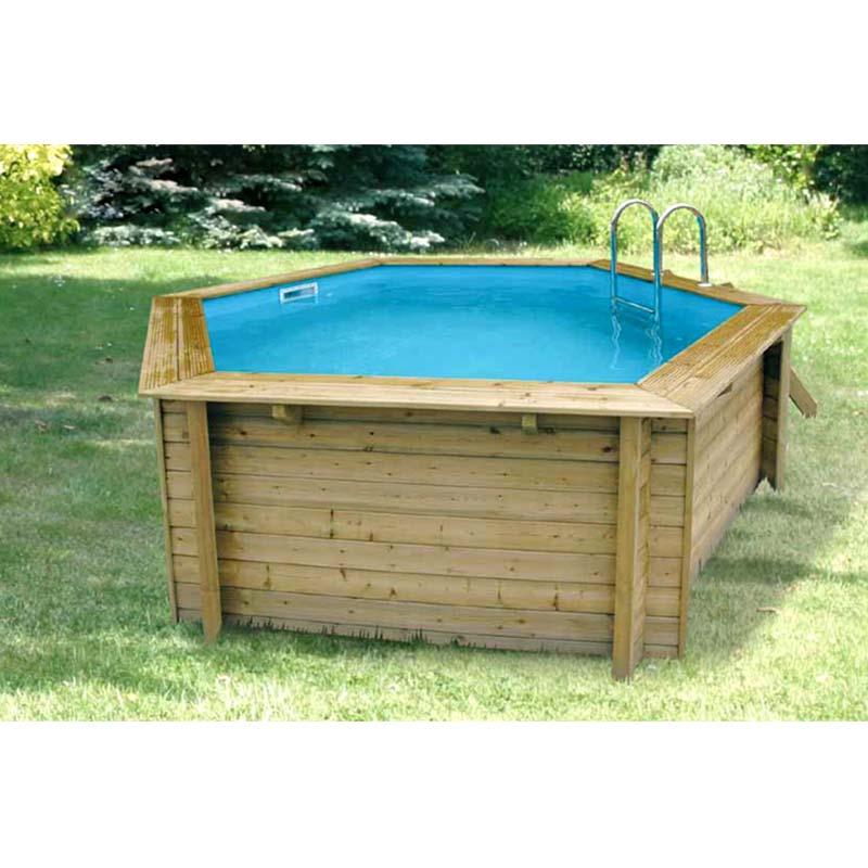 Ubbink cpiscine bois azura 410 catgorie piscine for Rail liner piscine bois