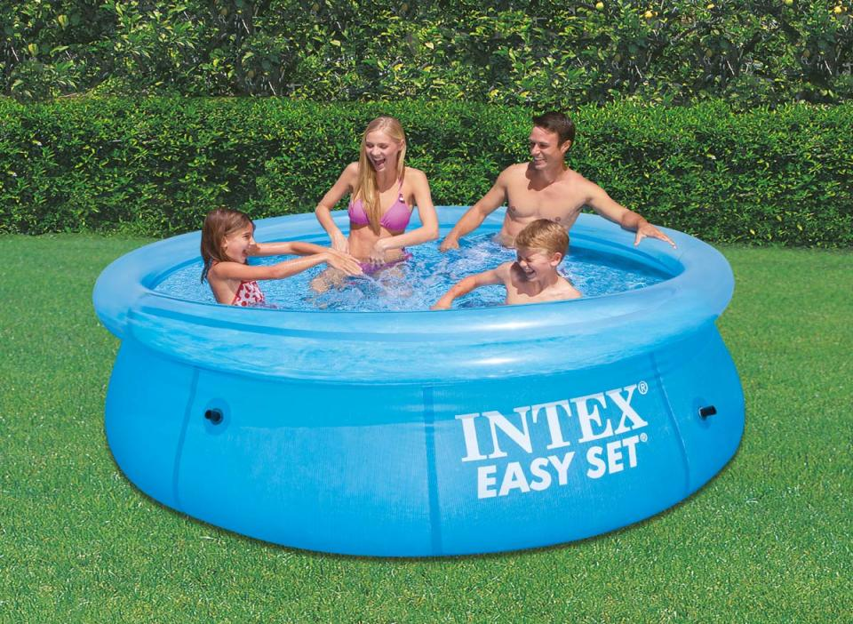 Intex piscine autostable 3 05 x 0 76 m transparente for Piscine 3 boudins intex