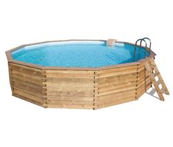 Abak bois eden roc octogonale diamtre 54 for Abak piscines trigano jardin