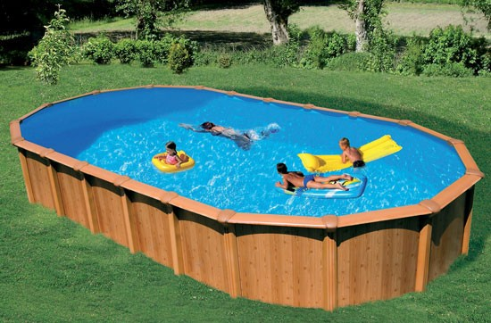 Abak mtal aspect bois c7225 for Accessoire piscine bois