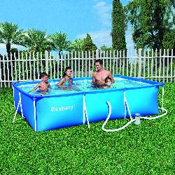 Bestway piscine hors sol tubulaire deluxe splash for Piscine hors sol tubulaire rectangulaire bestway