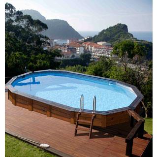 Gre piscine en bois hawai kitnpov731 for Marque piscine bois