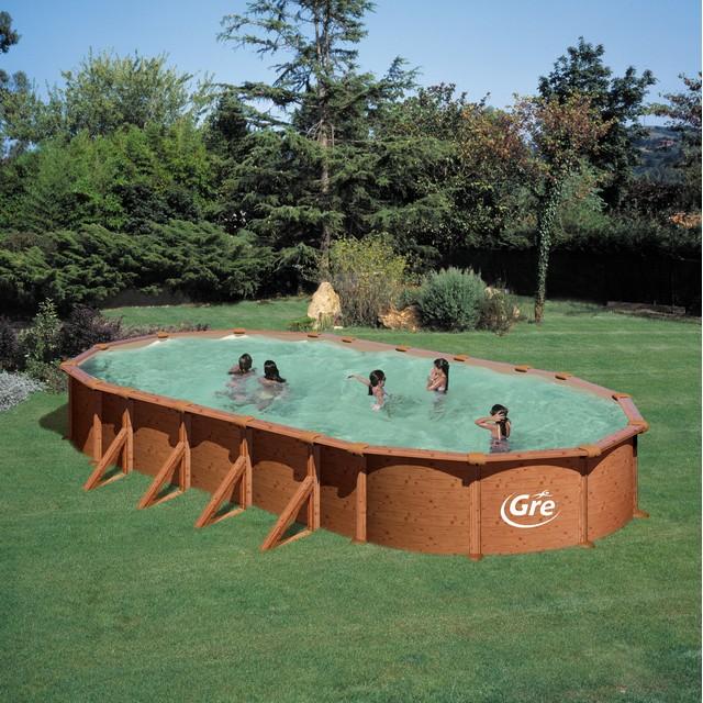 gre piscine ovale en m tal mauritius kitprov918w. Black Bedroom Furniture Sets. Home Design Ideas